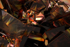 3D Abstract Glass Background. An abstract background with 3D glass particles Stock Photo