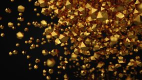3D Abstract Gold Platonic Composition, Background, Rendering.  Royalty Free Stock Photos