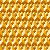 3d abstract gold texture, geometric seamless Stock Photos