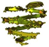 3d abstract gouden hart Royalty-vrije Stock Afbeeldingen