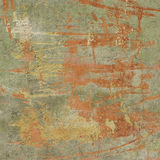 3d abstract grunge green orange wall backdrop. Abstract grunge green orange wall backdrop Stock Photos