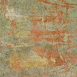 3d abstract grunge green orange wall backdrop Stock Photos