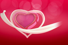 3d abstract heart of love on the  gradient  background. Stock Image