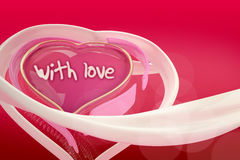 3d abstract heart of love on the  gradient  background. Royalty Free Stock Photography