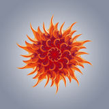 3d abstract igniting star shape, exotic flower Stock Photography