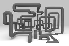 3D abstract  illustration of pipelines Stock Image