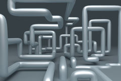 3D abstract  illustration of pipelines Stock Photo