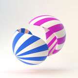 3D abstract  illustration. Vector template Royalty Free Stock Photos