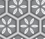 3D Abstract Lattice Seamless Pattern. 3D Abstract Lattice Seamless Pattern, Vector Illustration Stock Photography