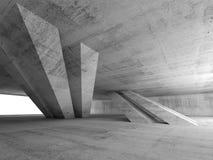 3d abstract leeg concreet ruimtebinnenland Royalty-vrije Stock Afbeeldingen