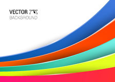 3d abstract lines full color background  illustration. 3d abstract lines full color background  illustration Royalty Free Stock Photo
