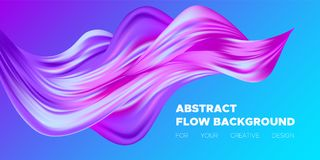 3d Abstract Liquid Colorful Shapes. Colorful Wave Shapes. 3d Abstract Background. Trendy Vector Illustration EPS10 for Your Creative Art Design. Fluid Stock Photos