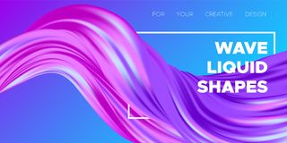 3d Abstract Liquid Colorful Shapes. Colorful Wave Shapes. 3d Abstract Background. Trendy Vector Illustration EPS10 for Your Creative Art Design. Fluid Royalty Free Stock Photo
