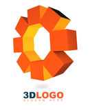 3D abstract logo. With cubic elements Royalty Free Stock Photography