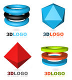 3D abstract logo. Icon set Stock Photography