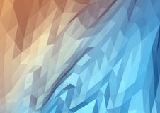 3D Abstract Lowpoly Background. Geometric background consisting of triangles stock illustration