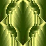 3d abstract modern vector naadloos patroon Groene gevormde orna Stock Foto's