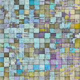 3d abstract mosaic pattern grunge gray wall stock illustration
