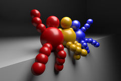 3D abstract multicolored Royalty Free Stock Image