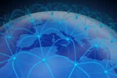 3D abstract netwerk vector illustratie