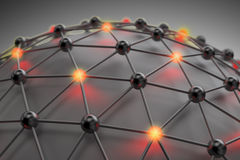 3D abstract network. 3D abstract mesh - networking concept Stock Photos
