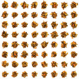3d abstract orange spiked shape pattern on white. Abstract orange spiked shape pattern on white Stock Image