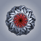 3d abstract organic flower snowflake star shape Stock Images