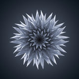 3d abstract organic flower star shape Royalty Free Stock Images