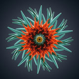 3d abstract organic flower coral star shape. 3d abstract organic shape, virus macro, cybernetic flower or star Stock Images