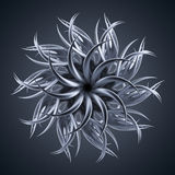 3d abstract alien organic flower star shape. 3d abstract organic shape, virus macro, cybernetic flower or star Stock Photography