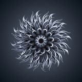 3d abstract alien organic flower star shape Stock Photos