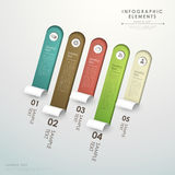 3d abstract origami banner infographics. 3d vector abstract origami banner infographic elements Royalty Free Stock Photo