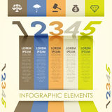 3d abstract origami banner infographics. 3d vector abstract origami banner infographic elements Royalty Free Stock Photography