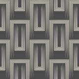 3d Abstract Ornament. Endless Halftone Wallpaper. Geometric Graphic Design Stock Photo
