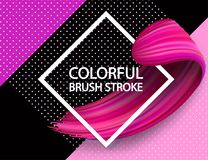 3d abstract paint brush stroke. Colorful modern background. With liquid paint brush texture, smear paint. Liquid fluid design, geomertrical background Stock Photos