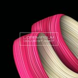 3d abstract paint brush stroke. Colorful modern background royalty free illustration