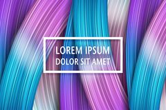 3d abstract paint brush stroke. Colorful modern background. With liquid paint brush texture, smear paint. Liquid fluid design Stock Image