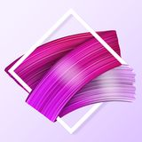 3d abstract paint brush stroke. Colorful modern background. With liquid paint brush texture, smear paint. Liquid fluid design Royalty Free Stock Photo