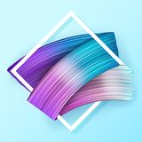 3d abstract paint brush stroke. Colorful modern background. With liquid paint brush texture, smear paint. Liquid fluid design Royalty Free Stock Image
