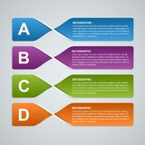 3D abstract paper banners, options infographic. Design element. Stock Photos