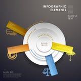 3d abstract pie chart infographics. 3d modern vector abstract pie chart infographic elements Stock Photo