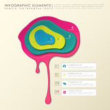 3d abstract pigment infographics Royalty Free Stock Photo