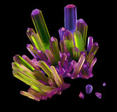 3d abstract rainbow crystal, gem shape,  crystallized Stock Photography