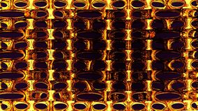 3d abstract rendering geometry background and illustration. 3d abstract rendering geometry yellow metal on dark black space  for background and illustration Stock Photos