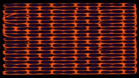 3d abstract rendering geometry with illustration  background. Orange metal on dark purple Stock Illustration