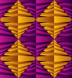 3D abstract rhombus surface seamless pattern. Stock Photos