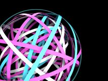3d abstract rings. Business concept royalty free illustration