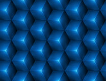 3d Abstract seamless background with blue cubes. Vector illustration in eps10 Royalty Free Stock Images