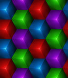 3d Abstract seamless background with colored cubes Stock Photos