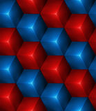 3d Abstract seamless background with cubes. 3d Abstract seamless background with blue and red cubes Vector illustration in eps10 Royalty Free Stock Photography
